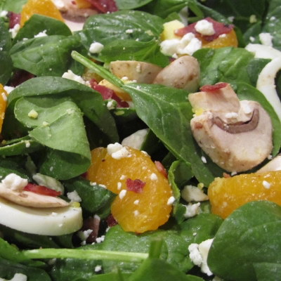 Side Salad Spinach mandarin-orange