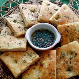 Side Rosemary Focacia with Herbed Olive Oil & Balsamic Dip 400x400