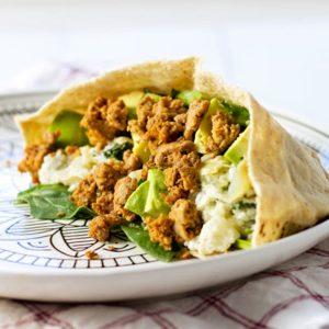 Turkey Hummus Pitas